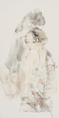 Chinese Watercolor Painting by Xiaofei Yue